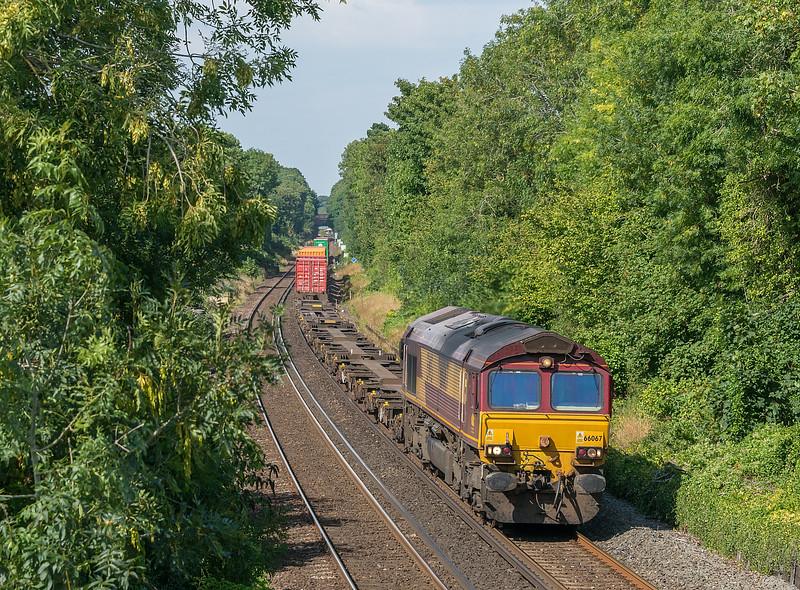 66067 Trafford Park - Southampton w Docks<br /> St. Cross, Winchester 12 August 2020