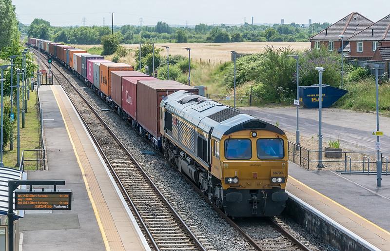 66703 Radley 16 July 2021   Southampton Western Docks to East Midlands Gateway
