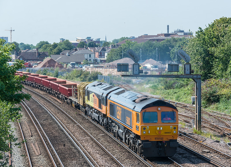 59003 + 66847 6O41 Westbury to Eastleigh.<br />  St. Denys 31 July 2020