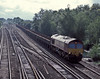 66206 heads the Eastleigh to Hinksey service through Worting Junction on 20 August 2004