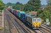 66550 Worting Jn. 16 September 2021 with 4O35 Crewe Basford Hall - Southampton MCT