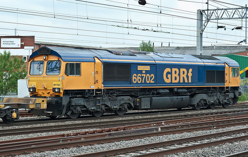 66702 heads north through Stafford on 1 June 2012