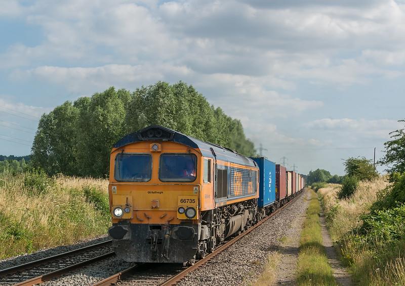 66735 Radley 16 July 2021   4M46 Southampton Western Docks to Trafford Park