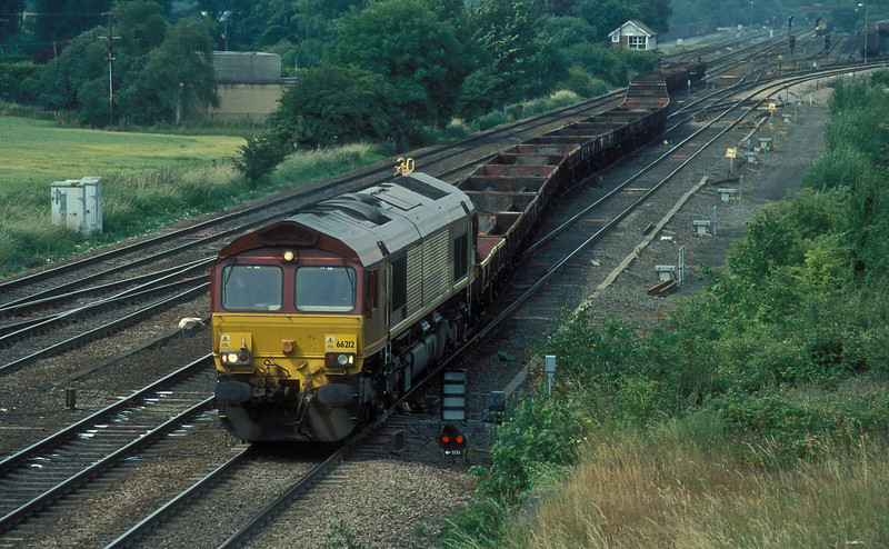 66212 crosses the ladder at Milford Junction with a empty train of coil carriers on 6 July 2006