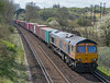 66704 on 4M19 Southampton Western Docks to East Midlands Gateway, St. Cross, Winchester 16 April 2021