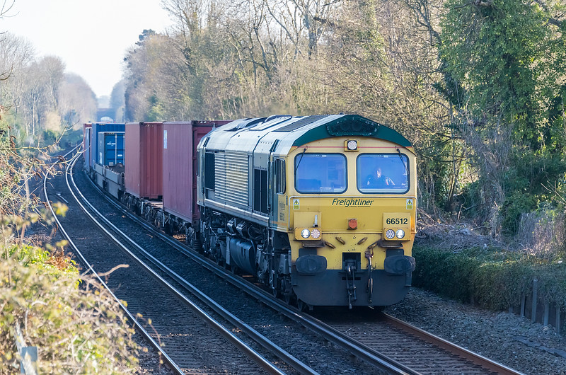 66512 with 4O18 Lawley St. to Southampton MCT at St. Cross, Winchester 16 April 2021