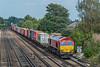 66117 Worting Jn. 16 September 2021 with 4O21 Trafford Park - Southampton Western Docks