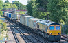 66702 4O23 Trafford Park - Southampton W Docks.<br />  St. Denys 31 July 2020