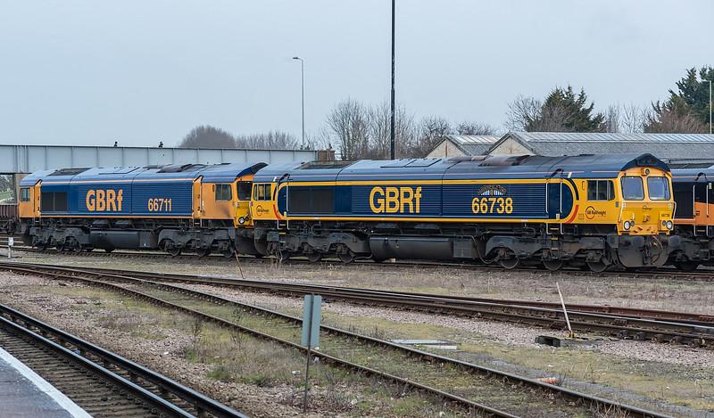 66738 + 66711 Eastleigh 5 February 2015