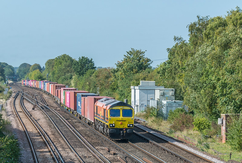 66419 approaches with Southampton Maritime to Garston<br /> Worting Junction 17 September 2020