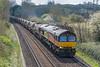 66850 6V27 Easteigh to Hinksey; St. Cross, Winchester 16 April 2021