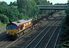 66192 approaches Milford Junction with a load of steel empties on 6 July 2006