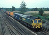 66535 on 4O14 (Garston to Southampton) at Worting Junction on 3 August 2006