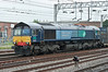 66430 is at the head of a Daventry bound intermodal service at Stafford on 1 June 2012