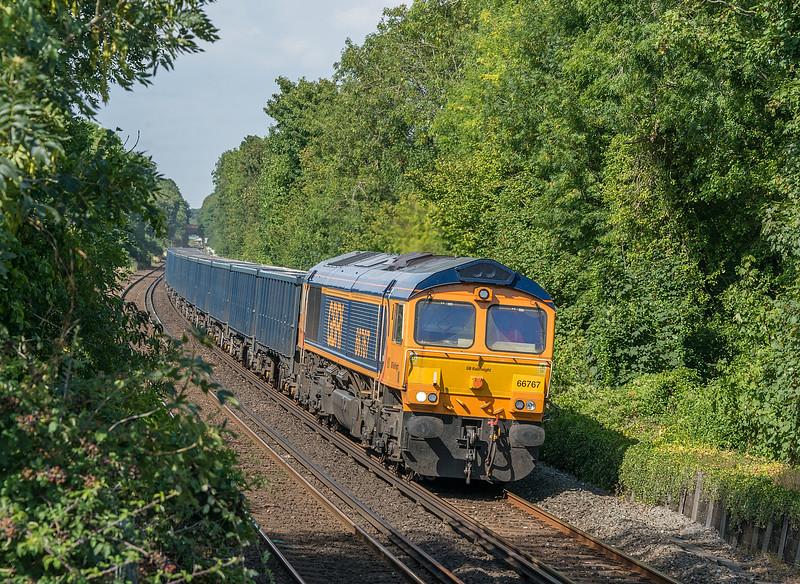 66767 4Y19 Mountfield - Southampton W Docks<br /> St. Cross, Winchester 12 August 2020