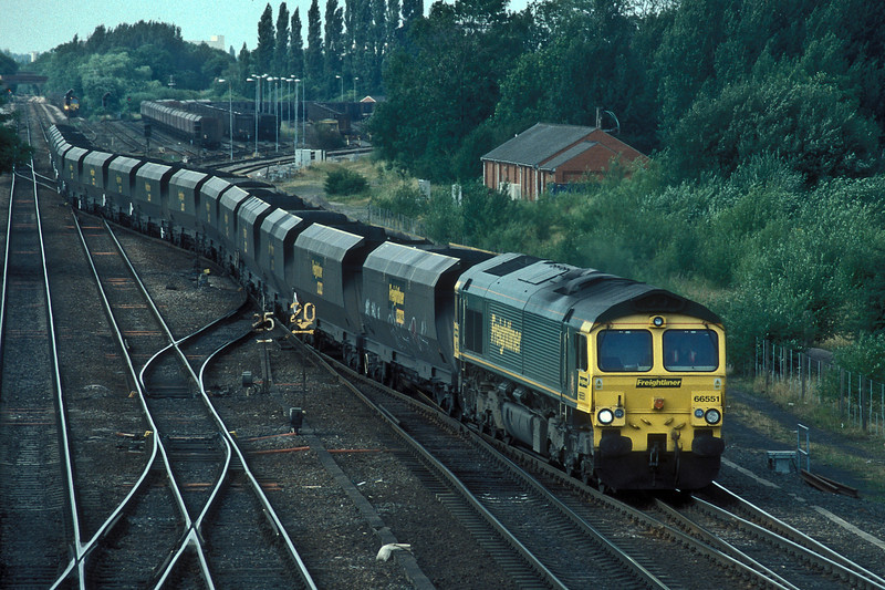 66551 crosses from the line from Colton Junction to the lines toward Knottingley at Milford Junction on 6 July 2006