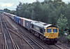 66570 passes Worting Junction with 4M99 Southampton to Trafford Park on 20 August 2004