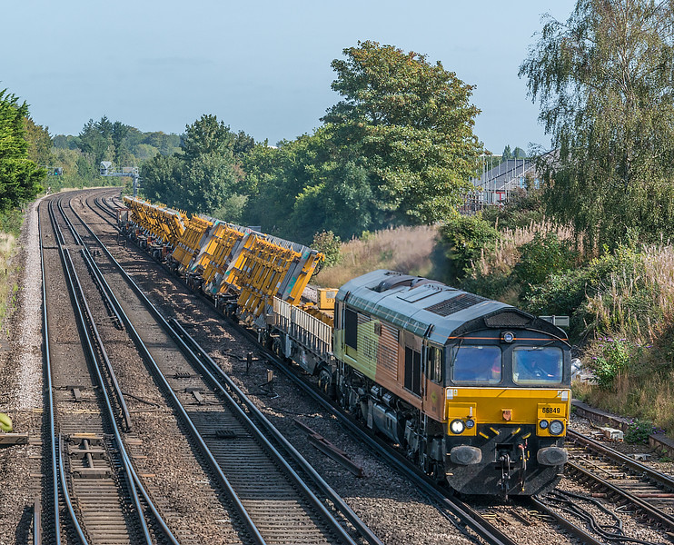 66849 with Hinksey to Eastleigh<br /> Worting Junction 17 September 2020