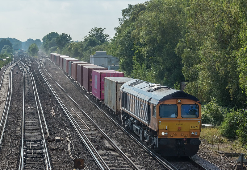 66776 Worting Jn. 16 September 2021 with 4M46 Southampton Western Docks - Trafford Park