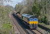 66849 passing St. Cross, Winchester on 16 April 2021 with 6O26 Hinksey to Eastleigh