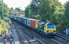 70016 with 4O22 Trafford Park - Southampton MCT at St. Denys 31 July 2020