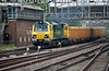 70015 runs into Stafford with a Mountsorrel working on 1 June 2012