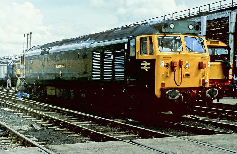 50007 is on display at Crewe Works Open Day on 2 June 1984