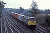 57008 passes Worting Junction with 4O51, the Cardiff Wentloog to Millbrook service, on 20 August 2004
