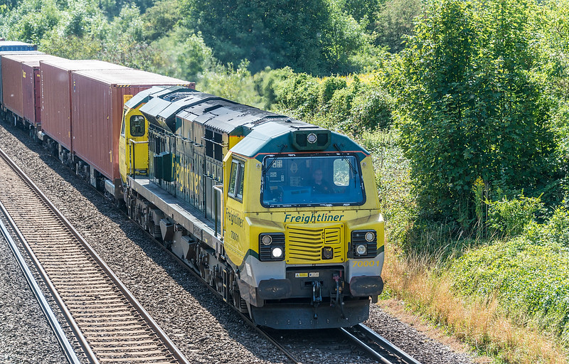 70001 4M61 Southampton MCT - Trafford Park<br /> St. Cross, Winchester 12 August 2020