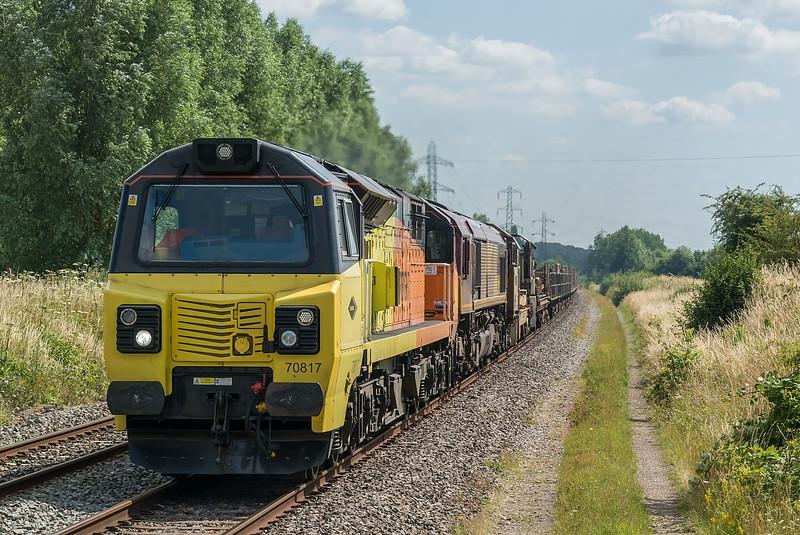 70817 + 66169 Radley 16 July 2021   6V27 Eastleigh to Hinksey