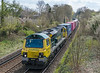 70002 4M61 Sothampton MCT to Trafford Park passes St. Cross, Winchester 16 April 2021