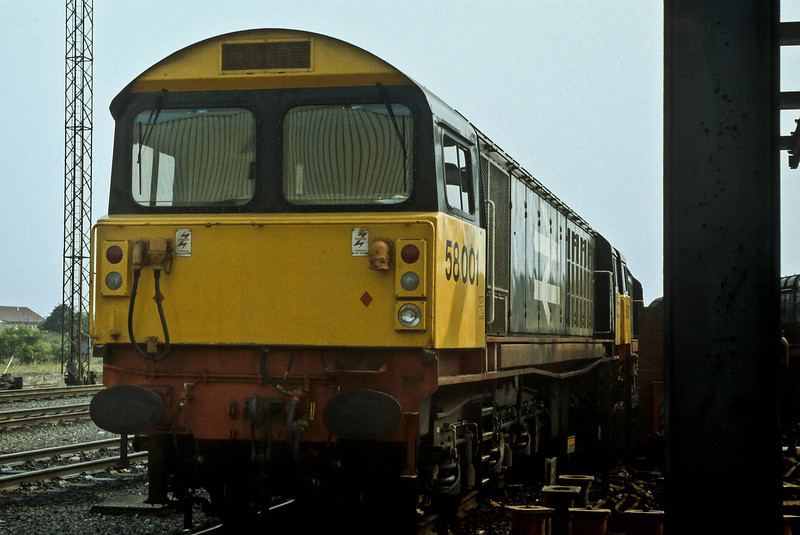 Still in original condition is 58001 at Toton on 21 August 1984