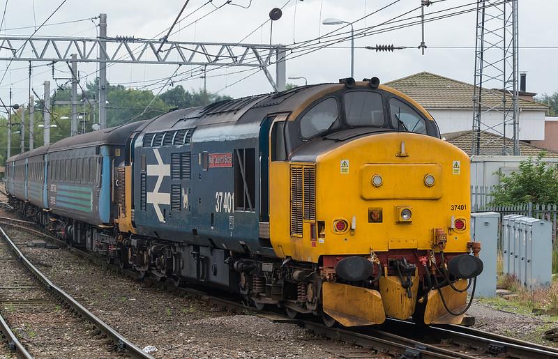 """More """"Retro"""" blue livery! 37401 Carlisle 6 September 2017"""