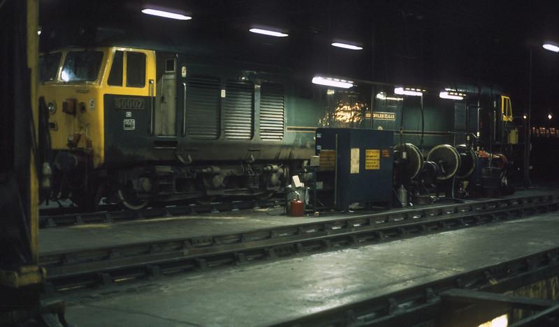 50007 Eastleigh TMD 17 December 1985