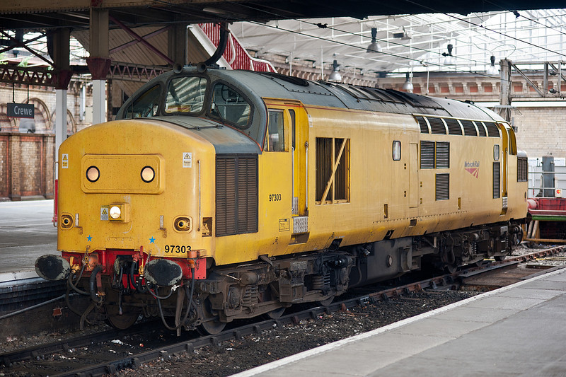 97303 turned up at Crewe on 1 June 2012