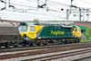 70013 heads north with empty coal hoppers at Stafford on 1 June 2012