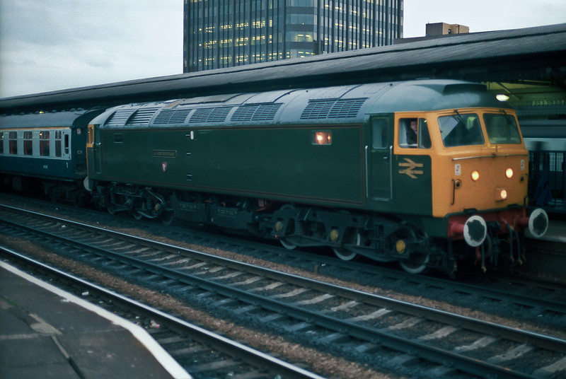 47079 looks in pretty good condition as it runs into Reading in 1982