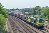 70017 + 70016 with 4M61 Southampton MCT - Trafford Park.  St. Denys 31 July 2020