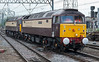 47832 and 47790 run light engine into Crewe station before going to the sidings to collect the 'Northern Belle' stock on 1 June 2012