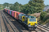 70001 + 66536 with Crewe Basford Hall to Southampton Maritime<br /> Worting Junction 17 September 2020
