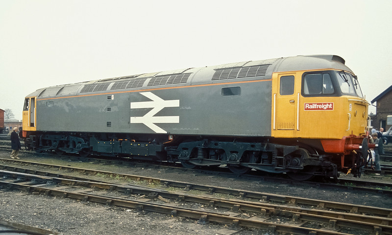 47213 was 'borrowed' to provide an exhibit at Eastleigh BREL Open Day on 12 October 1986