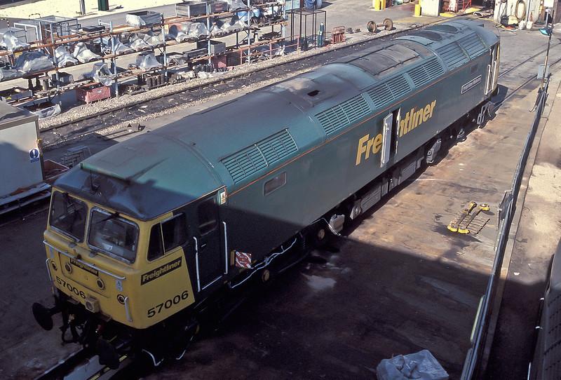 Roof details of 57006 at Millbrook on 4 September 2004