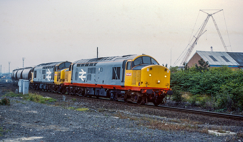 37517 + 37518 Thornaby 19 August 1987
