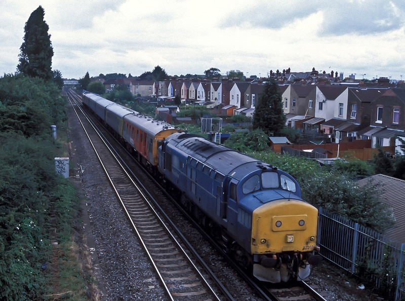 37057 comes along for the ride at the rear of the train as 37203 leads a SERCO test train out of Portsmouth on 8 July 2004