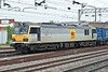 Heading for Daventry with the 'Tesco Express' 90036 passes Stafford on 1 June 2012