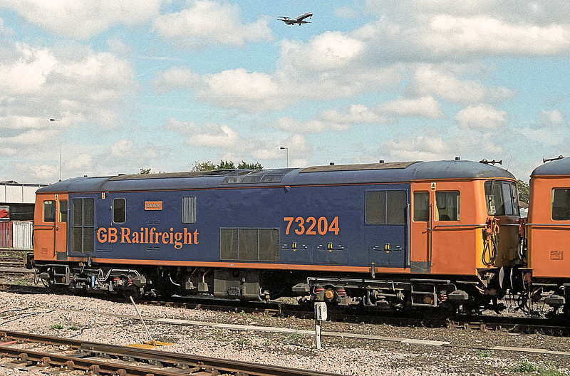 73204 'Janice' is in the loco holding sidings at Eastleigh on 20 September 2006