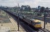 86209 powers its down passenger train through the industrial wasteland of Willesden Junction on 4 August 1986