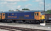 GB Railfreight locos are common in the Solent area on infrastructure work - 73209 'Alison' is at Eastleigh on 20 September 2006