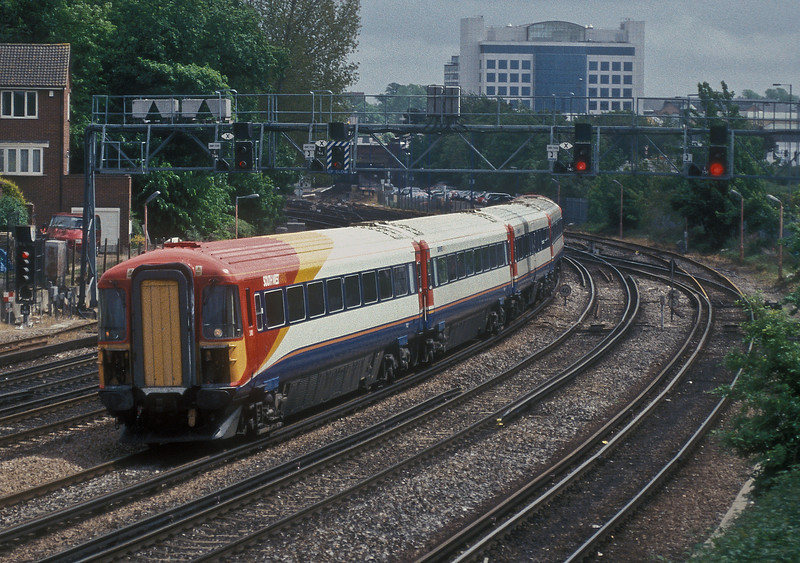 442411 leaves Southampton Central with a service for Poole on 20 May 2005