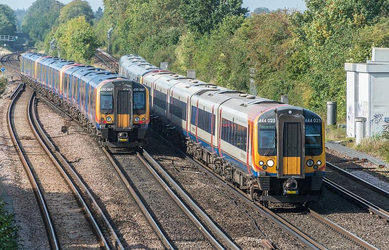 444025 passes 450067 Worting Junction 17 September 2020